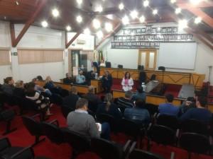 Secretaria Mara, com os sindicatos e vereadores