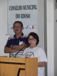 Ana e Rubem, presidente e vice do Conselho