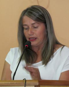 Vereadora Assisense Elizandra Sacardi, falou em nome da bancada do Progressistas