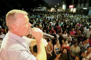 Vereador Décio Loureiro falou em nome dos vereadores