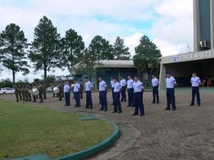 Solenidade Militar na manhã de hoje.