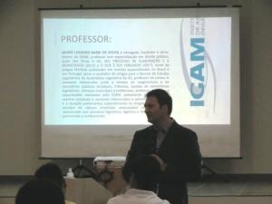 Professor, Dr. André Barbi ministrou o curso