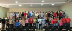 Vereadores, assessores e funcionários que participaram do curso