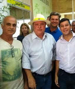 Vereadores santiaguenses com o Ministro Blairo Maggi