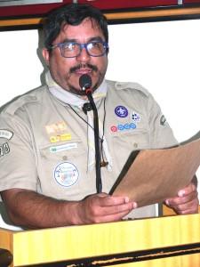 Edison Martins falou em nome dos escoteiros