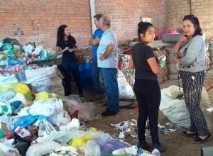 Vereadores em visita aos recicladores
