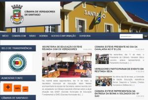 Portal Eletrônico da Câmara de Vereadores de Santiago