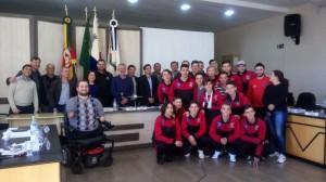 Equipe do Bola para o Futuro na Tribuna Livre da Câmara de Vereadores se Santiago