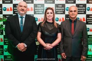 Marcelo Pena Noronha- Vice Presidente ,Marione de Afonso Alcantara-Presidente e Tadeu Machado-Presidente da Câmara de Vereadores