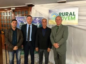 Ver. Joel Oliveira,Dep. Federal Sanderson,Presidente da Câmara Tadeu Machado e o Presidente do Sindicato Rural José Luiz Dalosto