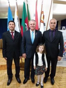 Vereadoe Joel Oliveira,Presidente Rotary JoelJung Bonfim e o Presidente da Câmara de Vereadores Tadeu Machado