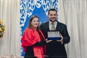 Agraciada com o Título de Cidadã Santiaguense pelo Vereador Dionathan Farias