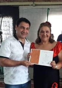Vereador Claudio Batista,autor da proposição que institui O dia do Projeto Forma e Saúde e  Sara Rosado-Responsável pelo Projeto