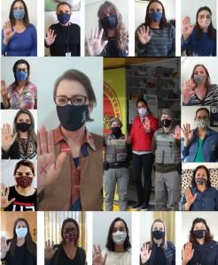 Servidoras da Câmara de Vereadores apoiam a campanha SINAL VERMELHO